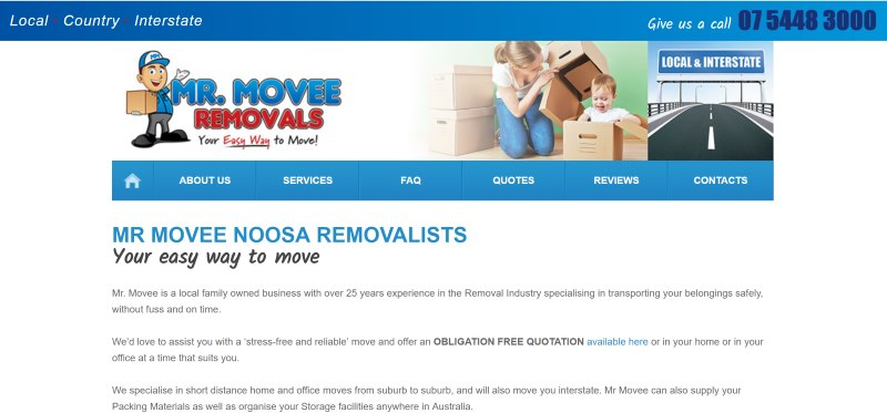 MrMovee Removalist Website design